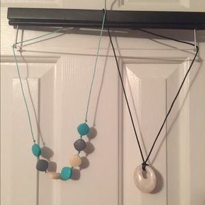 NWOT - 2 Silicone teething necklaces